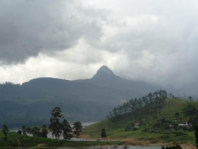 Sri Padaya, seen from Maskeliya town...