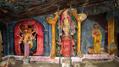 Lord Kataragama's statue destroyed