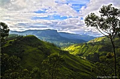 The view of the Upper kothmale valley HDR