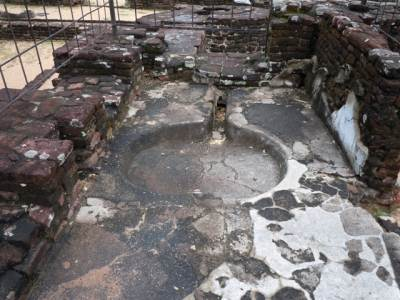 Ruins of a toilet of the palace