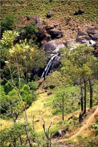 Lanka Ella cascading point seen from the track