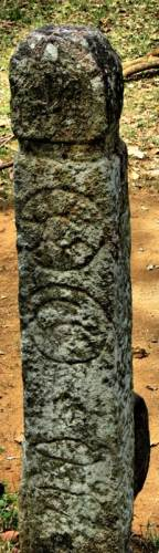 stone pillar with interesting carvings
