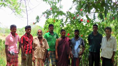 Sumangala thero and some villagers of Kotiyagala