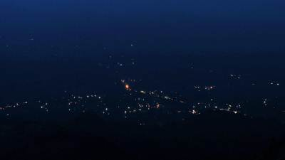 Monaragala town lit up(15 second shutter speed