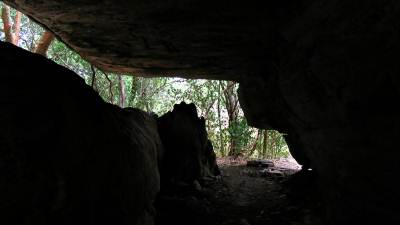 inside the main cave