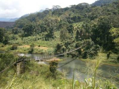 The Hanging Bridge at Kotmale