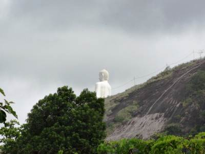 Got a partial view of the giant Buddha statue in Kurunegala