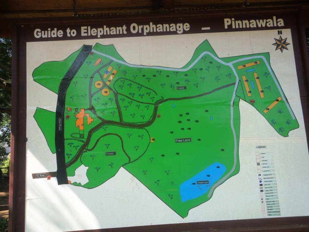 Site map of Pinnawala