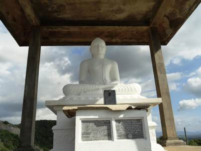 Serene looking Samadhi Buddha Statue on top