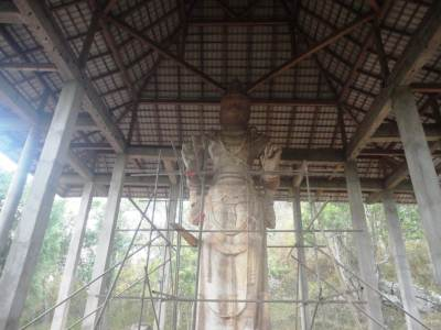 The Dambegoda Bodhisathwa Statue after reconstruction