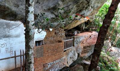 the cave with the balcony