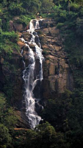 Ravana falls as seen from Kithal ella - bandarawela road