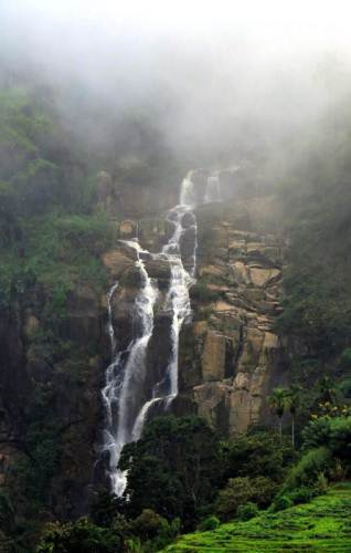 Ravana falls(proper) covered with mist