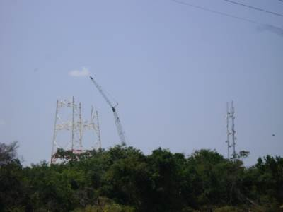 New Telephone tower under construction