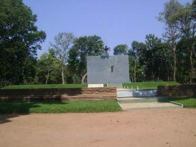 The Army war memorial being built at the entrance to Kilinochchi Town