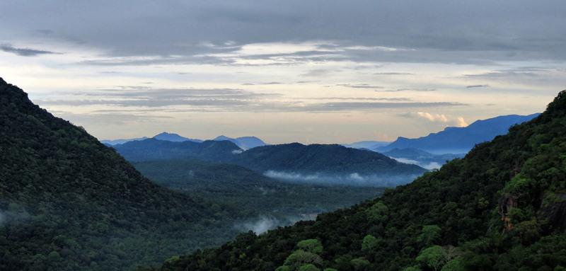 the gap towards Monaragala, part of Maragala range can be seen