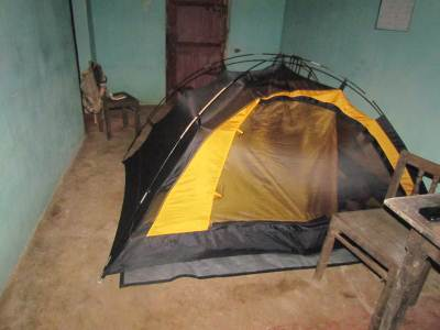 The tent - Single most useful piece of equipment we carried