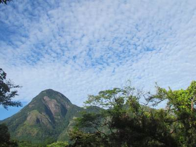 Kaudagammana peak as seen from Puwakpitiya Village