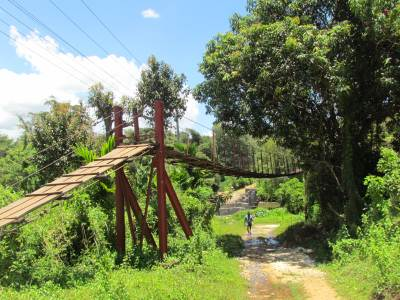 The suspension bridge at Kadawatha