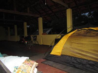 Good night ... again in our faithful tent