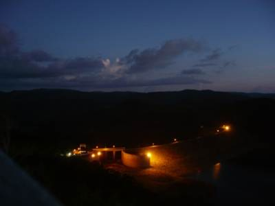 Evening scenery of the dam from VIP bungalow
