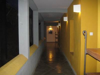 VIP Bungalow: A corridor during night