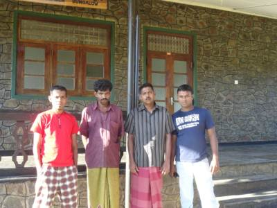From left; Me, Thilakasiri, Mangala & Podi