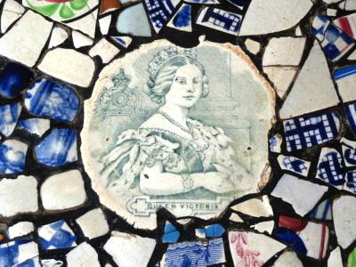 Queen Victoria on the floor tiles...