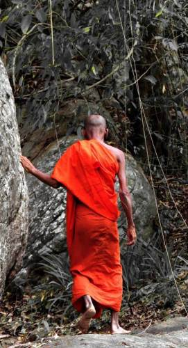 the monk volunteered to show us the way