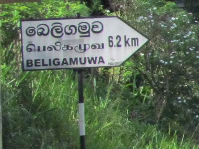 Towards Beligamuwa from Wahakotte-Pallepola road