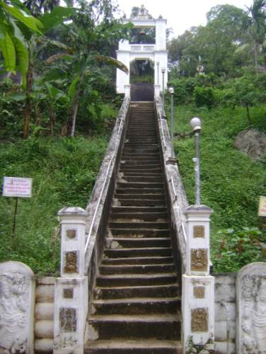 The steps leading to the top of the ancient Viharaya