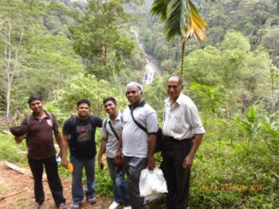 Our crew except me…. from left to right ( Ravindra, Roshan, Prathap, AthulaMama, Sunil Mahappa