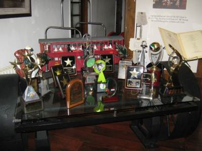 Plenty of awards. Note how the table is made up