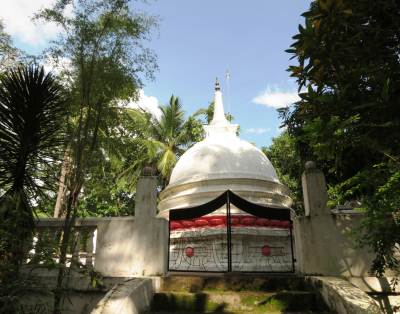 New stupa is built on old one