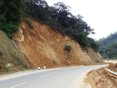 Land slides in Haggala