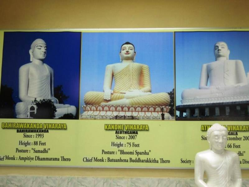 There are 6 Giant Samadhi statues in SL