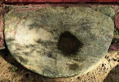 an ancient moon stone at Mulagiri viharaya Mullegama