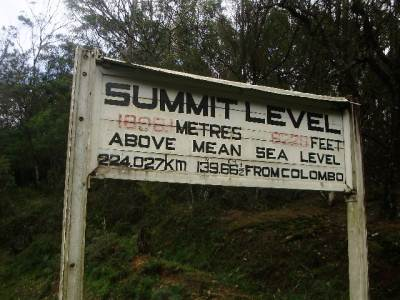 Summit level of Railway line