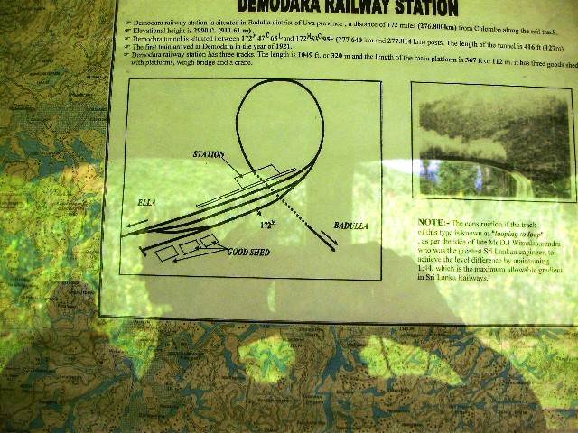 Demodara loop shown at the station