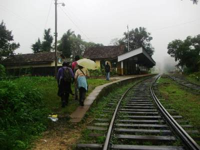 End of a rail hike at Ella station