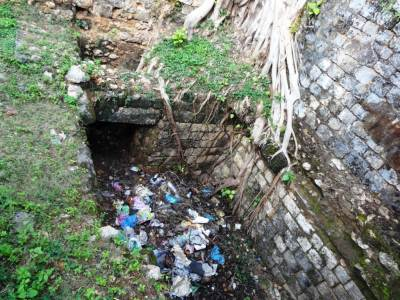 The entrance may have been to the tunnel, now being used as a dumping area