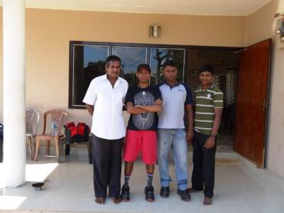 From left (Ravi, Me, Podi and Ranjith Kumar)