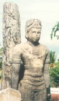 The statue of King Mahasena in original state
