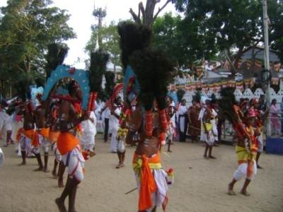 The famous Kavadi dance by pilgrims