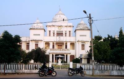 Our bikes in front of Jaffna library