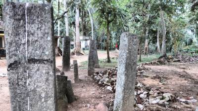 Remaining stone pillars