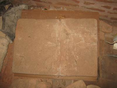 One of the largest square bricks found in Sri Lanka