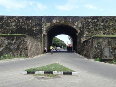 Entrance of the Dutch fort