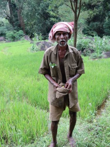 When the mud is washed out, people like these are suitable to be kings.... he's got a pocket full of Thalaa leaves