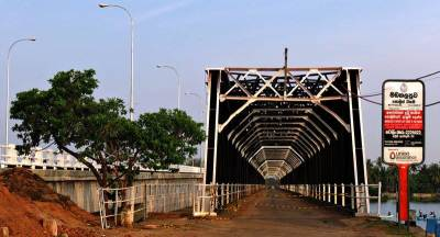 the famous kalladi bridge  with the new one close by